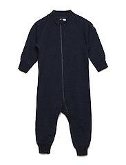 Overall Solid Wool Newborn - DARK SAPPHIRE