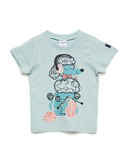 T-Shirt Short Sleeve Printed Baby - GRAY MIST