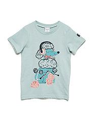 T-Shirt Short Sleeve Printed Preschool - GRAY MIST