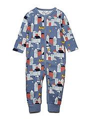 Pyjamas Overall AOP Baby - CORONET BLUE