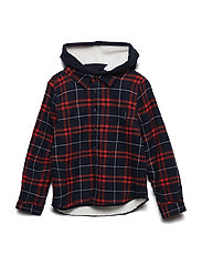 Shirt Long Sleeve Checked School - DARK SAPPHIRE