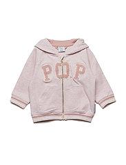 Sweatshirt Applique NB - CLOUD PINK