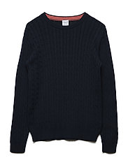 Sweater Knitted School - DARK SAPPHIRE