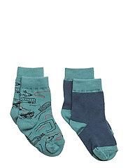 Sock 2-pack Jaquard Baby - BRISTOL BLUE