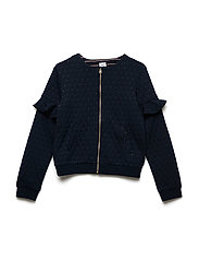 Sweater Frill And Zip School - DARK SAPPHIRE