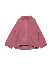 Zip Up Fleece Solid Baby - ROSE WINE