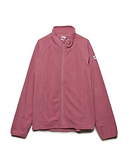 Zip Up Fleece Solid - ROSE WINE