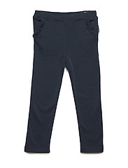 Trousers w. frill - DARK SAPPHIRE