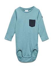 Body w.pocket Baby - BRISTOL BLUE
