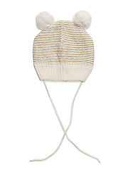 Cap Knitted Solid NB - EGRET