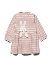 Dress long sleeve applique Newborn - MELLOW ROSE