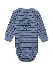 Body striped long sleeve Newborn - CORONET BLUE