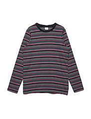 Top long sleeve Striped School - BLACK