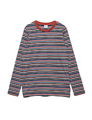 Top long sleeve Striped School - BURNT OCHRE