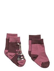 2-Pack Sock Jaquard Baby - TAWNY PORT