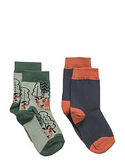 2-Pack Sock Jaquard Preschool - MOOD INDIGO