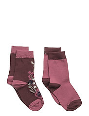 2-Pack Sock Jaquard Preschool - TAWNY PORT
