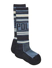 Thick Wool Ski Sock - DARK SAPPHIRE