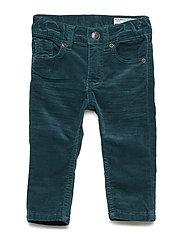 Woven Velvet Trousers Baby - ATLANTIC DEEP