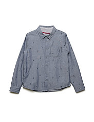Shirt long sleeve AOP - CORONET BLUE