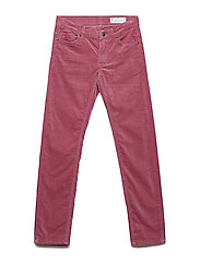 Woven Velvet Trousers School - ROSE WINE