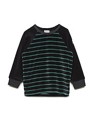 Top long sleeve PO.P Striped Baby - BLACK