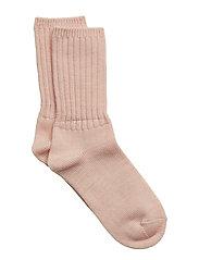 Thick Wool Sock School - PINK MELANGE