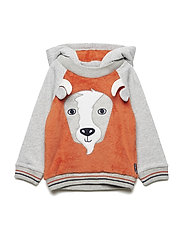 Sweatshirt Hood Preschool - BURNT OCHRE
