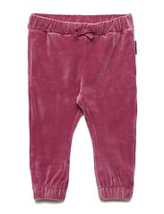Trouser Velour Solid Baby - ROSE WINE