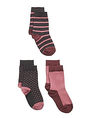 3-Pack Sock Jaquard Preschool - ROSE WINE