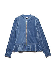 Zip Up velour Solid School - CORONET BLUE