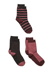 3-Pack Sock Jaquard School - ROSE WINE