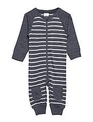 Overall PO.P Striped Newborn - GREYMELANGE