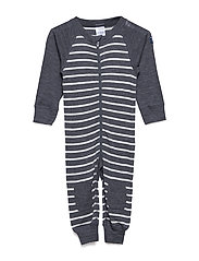 Overall PO.P Striped Baby - GREYMELANGE