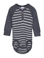Body Wool Striped Baby - GREYMELANGE