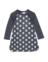 Dress Long Sleeve Wool Solid Baby