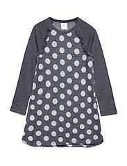 Dress Long Sleeve Wool Solid PreSchool - GREYMELANGE