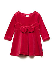 Dress solid w detail Baby - CHILI PEPPER