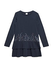 Dress Long Sleeve School - DARK SAPPHIRE