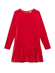 Dress solid velour School - CHILI PEPPER
