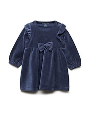 Dress Long Sleeve Velour Newborn - MOOD INDIGO