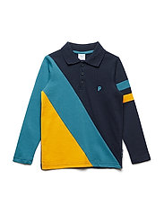 Top Long Sleeve with collar Pre-School - DARK SAPPHIRE
