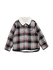Shirt Long Sleeve Checked Pre-school - GREYMELANGE