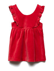 Dress s/s Velour Solid Newborn - CHILI PEPPER
