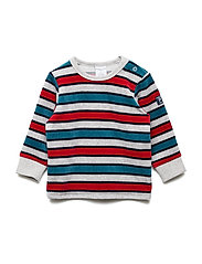 Velour Top Long Sleeve Striped Baby