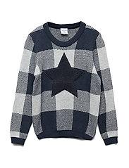 Sweater Knitted Preschool - DARK SAPPHIRE