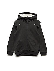 Cotton Fleece Hood Pre-School - GREYMELANGE