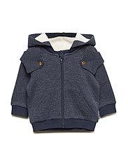 Cotton Fleece Hood Baby - DARK SAPPHIRE