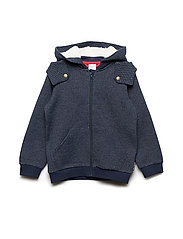 Cotton Fleece Hood Pre-School - DARK SAPPHIRE