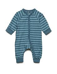 Pyjamas Overall Striped Newborn - COLONIAL BLUE